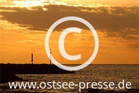 Ostsee Pressebild: Sonnenuntergang an der Ostsee