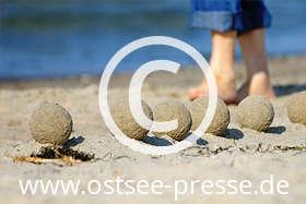 Ostsee Pressebild: Sandkunst an der Ostsee