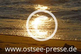 Ostsee Pressebild: Sonnenuntergang