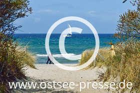 Ostsee Pressebild: Strandaufgang an der Ostsee