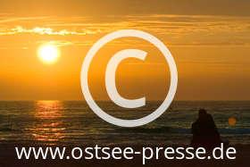 Ostsee Pressebild: Sonnenuntergang über der Ostsee