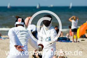 Ostsee Pressebild: Strandfechten an der Ostsee